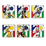 Disney Booster Pin Set - Walt Disney World 2021 Logo - Mickey Mouse and Friends