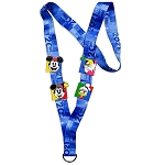 Disney Pin Starter Set w/ Lanyard - Walt Disney World 2021 Logo - Mickey Mouse and Friends