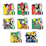 Disney Mystery Pin Set - Walt Disney World 2021 Logo - Mickey Mouse and Friends