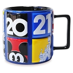 Disney Coffee Cup - Walt Disney World 2021 Logo - Mickey Mouse and Friends