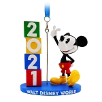 Disney Figural Ornament - Walt Disney World 2021 Logo - Mickey Mouse