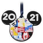 Disney Ceramic Ornament - Walt Disney World 2021 Logo - Mickey Mouse Icon