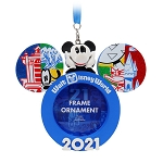 Disney Photo Frame Ornament - Walt Disney World 2021 Logo - Mickey Mouse