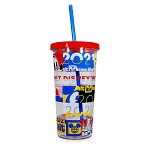 Disney Travel Tumbler with Straw - Walt Disney World 2021 Logo - Mickey Mouse and Friends