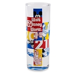 Disney Tall Shotglass - Walt Disney World 2021 Logo - Mickey Mouse and Friends
