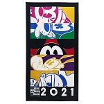 Disney Beach Towel - Walt Disney World 2021 Logo - Mickey Mouse and Friends
