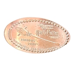 Universal Pressed Penny - Harry Potter Broomstick - Nimbus 2001