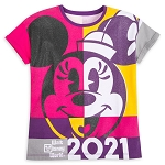 Disney Girls Fashion T - Shirt - Walt Disney World 2021 Logo - Minnie Mouse