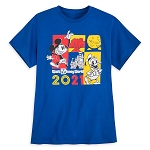 Disney Adult Shirt - Walt Disney World 2021 Logo - Mickey Mouse and Donald Duck