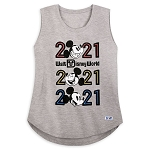 Disney Women's Tank Top - Walt Disney World 2021 Logo - Mickey Mouse