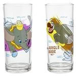 Disney Drinking Glass Set - Ink & Paint - 40's through 60's - Dumbo - Baloo - Alice - Lady and the Tramp