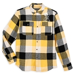 Disney Adult Shirt - Plaid Flannel - Pluto
