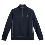 Disney Men's Half Zip Sweatshirt by Tommy Bahama - Mickey Mouse Tobago Bay - Navy