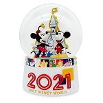 Disney Snow Globe - Walt Disney World 2021 Logo - Mickey Mouse and Friends