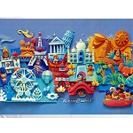 Disney Postcard - Fenway Fan - Magic in a Small World
