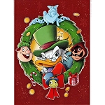 Disney Postcard - Chris Uminga - Scrooge and His Ghosts