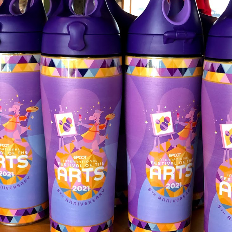 Disney Stainless Steel Tervis Tumbler w / Lid - Epcot Festival of the Arts 2021 - Figment