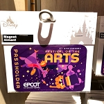 Disney Magnet - Epcot Festival of the Arts 2021 - PASSHOLDER - Figment - Rectangle