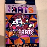 Disney Pin - Epcot Festival of the Arts 2021 - Mickey Mouse - Donald Duck - Figment - Chip n Dale