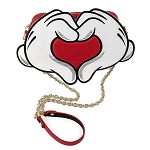 Disney Loungefly Bag - Mickey & Minnie Mouse Love Heart Hands Crossbody Bag