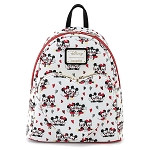 Disney Loungefly Mini Backpack - Mickey & Minnie Mouse Love Heart AOP