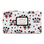 Disney Loungefly Wallet - Mickey & Minnie Mouse Love AOP Flap Wallet