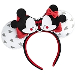 Disney Loungefly Ear Headband - Mickey & Minnie Mouse Love Ears Headband