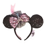 Disney Ear Headband - Eiffel Tower - Epcot - Paris France w/ Feather