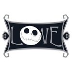 Disney Pin - Jack Skellington - Love