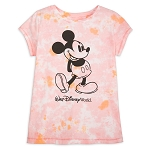 Disney Girls Shirt - Walt Disney World Pink Tie Dye - Mickey Mouse