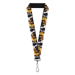 Disney Designer Lanyard - Disney Dogs Group Collage - Gray with Black Paws