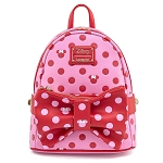 Disney Loungefly Mini Backpack - Minnie Mouse Pink Bow Convertible 2 in 1 Fanny Backpack