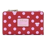 Disney Loungefly Wallet - Minnie Mouse Pink Polka Dot Flap Wallet