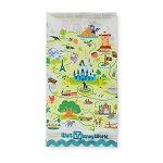 Disney Kitchen Towel - Walt Disney World Park Map