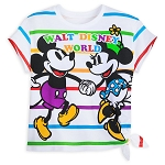Disney Girls Striped T-Shirt - Minnie Mouse