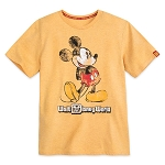 Disney Men's Shirt - Walt Disney World - Classic Mickey Mouse - Yellow