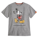 Disney Men's Shirt - Walt Disney World - Classic Mickey Mouse - Gray