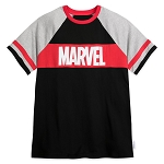 Disney Adult Shirt by Our Universe - Marvel Logo - Raglan T-Shirt
