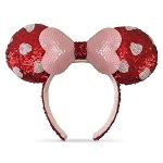 Disney Ear Headband - Minnie Mouse Sequined - Valentine's Day