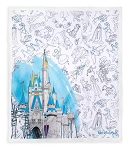 Disney Throw Blanket -  Ink & Paint – Walt Disney World Castle