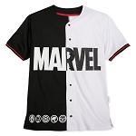 Disney Adult Shirt by Our Universe - Marvel Logo - Baseball Jersey