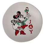 Disney Dessert Plate  - Yuletide Minnie Mouse - Joy
