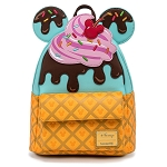 Disney Loungefly Mini Backpack - Mickey and Minnie Mouse Sweets - Ice Cream