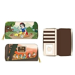 Disney Loungefly Zip Around Wallet - Snow White and the Seven Dwarfs - Multi Scene