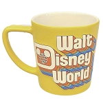 Disney Coffee Cup Mug - Retro Yellow Walt Disney World Logo