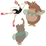 Disney D-Flair Pin Set - Dance of the Hours - Fantasia