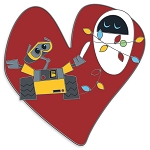 Disney Pin - Wall-E and E.V.E. Heart