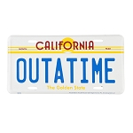 Universal Studios License Plate - Back to the Future - OUTATIME