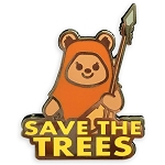Disney Pin by Her Universe - Star Wars Ewok - Wicket - Save the Trees