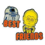 Disney Pin Set by Her Universe - Star Wars - R2-D2 and C-3PO - Best Friends